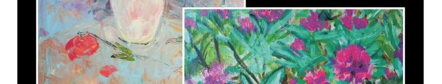 """Wystawa malarstwa na """"Starym Dworcu"""" Kliknięcie w obrazek spowoduje wyświetlenie jego powiększenia"""