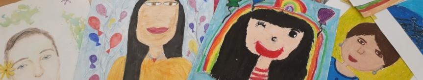 """""""Portret Mojej Mamy"""" - rozstrzygnięcie konkursu plastycznego Kliknięcie w obrazek spowoduje wyświetlenie jego powiększenia"""