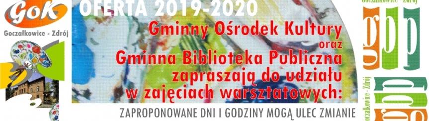 Oferta warsztatowa 2019-2020 Kliknięcie w obrazek spowoduje wyświetlenie jego powiększenia