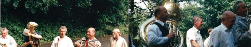 Rudolf Kuska uświetniał swą grą najważniejsze uroczystości i gminne wydarzenia, takie jak: Dożynki, Dni Goczałkowic, odpusty, festyny, czy też imprezy okolicznościowe (źródło: archiwum rodzinne R. Kuski)